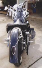 1993 HARLEY-DAVIDSON SOFTAIL CUSTOM MOTORCYCLE - Rear 3/4 - 39852
