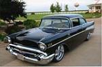 1957 CHEVROLET 210 CUSTOM 2 DOOR HARDTOP - Front 3/4 - 43786
