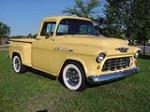 1955 CHEVROLET 3100 CUSTOM PICKUP - Front 3/4 - 43851