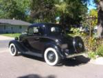 1935 CHEVROLET 3 WINDOW DELUX COUPE - Rear 3/4 - 44122