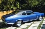 1969 CHEVROLET NOVA CUSTOM 2 DOOR HARDTOP - Side Profile - 49021