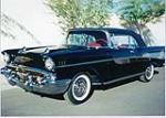 1957 CHEVROLET BEL AIR CONVERTIBLE - Front 3/4 - 49407