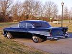 1957 CHEVROLET BEL AIR CUSTOM 2 DOOR HARDTOP - Rear 3/4 - 49441