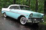 1956 CHEVROLET BEL AIR CONVERTIBLE - Front 3/4 - 49487