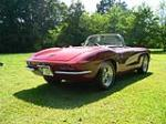 1961 CHEVROLET CORVETTE CONVERTIBLE - Rear 3/4 - 49496