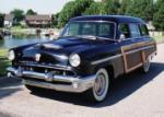 1953 MERCURY MONTEREY 4 DOOR WOODY WAGON - Front 3/4 - 60617