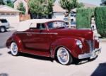 1940 FORD DELUXE CUSTOM 2 DOOR CONVERTIBLE - Front 3/4 - 60709