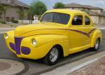 1941 FORD DELUXE CUSTOM COUPE - Front 3/4 - 61215
