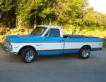 1972 CHEVROLET C-10 CUSTOM DELUXE PICKUP - Side Profile - 64172