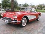 1961 CHEVROLET CORVETTE CONVERTIBLE - Front 3/4 - 70608