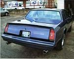 1984 CHEVROLET MONTE CARLO SS 2 DOOR HARDTOP - Rear 3/4 - 75330