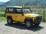 "1994 LAND ROVER DEFENDER 90 2 DOOR SUV ""DON JOHNSONS"" - Front 3/4 - 79672"