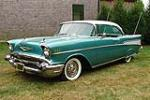 1957 CHEVROLET BEL AIR 2 DOOR HARDTOP - Front 3/4 - 82105