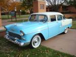 1955 CHEVROLET BEL AIR 4 DOOR SEDAN - Front 3/4 - 82191