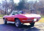 1967 CHEVROLET CORVETTE CONVERTIBLE - Rear 3/4 - 82613