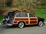 1951 FORD COUNTRY SQUIRE WAGON - Side Profile - 82616