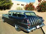 1956 PONTIAC SAFARI CUSTOM 2 DOOR WAGON - Rear 3/4 - 82683