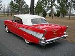 1957 CHEVROLET BEL AIR 2 DOOR CONVERTIBLE - Rear 3/4 - 88854
