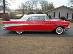 1957 CHEVROLET BEL AIR 2 DOOR CONVERTIBLE - Side Profile - 88854