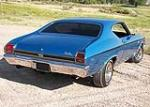 1969 CHEVROLET CHEVELLE SS 396 2 DOOR HARDTOP - Rear 3/4 - 91202