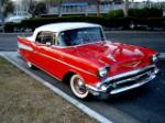 1957 CHEVROLET BEL AIR CONVERTIBLE - Front 3/4 - 91394