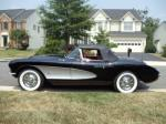1957 CHEVROLET CORVETTE CONVERTIBLE - Side Profile - 93285
