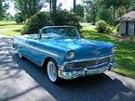 1956 CHEVROLET BEL AIR CONVERTIBLE - Front 3/4 - 93366