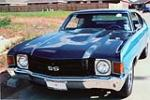 1972 CHEVROLET CHEVELLE CUSTOM 2 DOOR COUPE - Front 3/4 - 93436