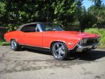 1968 CHEVROLET CHEVELLE SS 2 DOOR CONVERTIBLE - Side Profile - 93584