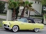 1955 FORD THUNDERBIRD CONVERTIBLE - Side Profile - 96067