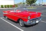 1957 CHEVROLET BEL AIR 2 DOOR CONVERTIBLE - Front 3/4 - 96229