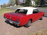 1966 FORD MUSTANG CONVERTIBLE - Rear 3/4 - 96445