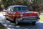 1957 CHEVROLET BEL AIR CONVERTIBLE - Front 3/4 - 96581
