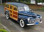 1948 FORD SUPER DELUXE WOODY WAGON - Front 3/4 - 96682
