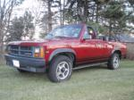 1989 DODGE DAKOTA CONVERTIBLE PICKUP - Front 3/4 - 98076